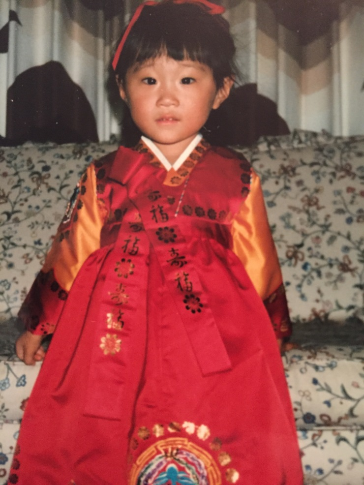 Me dressed in Hanbok