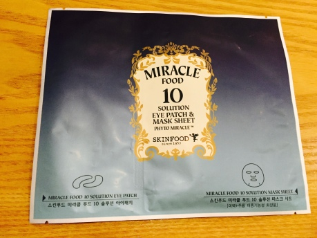 Skinfood Miracle Food 10 Solution Eye Patch and Mask Sheet
