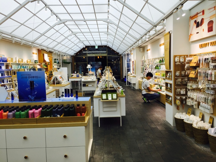 The innisfree store in Gangnam