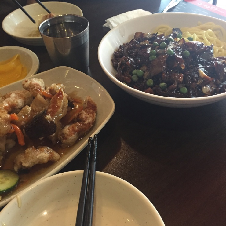 Jajangmyeon and Tangsuyuk